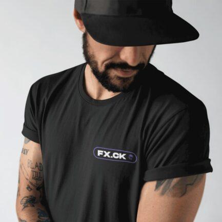 Camiseta Fx.ck color negro